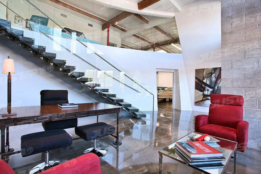 不锈钢楼梯 伸拉梯 旋转楼梯图片