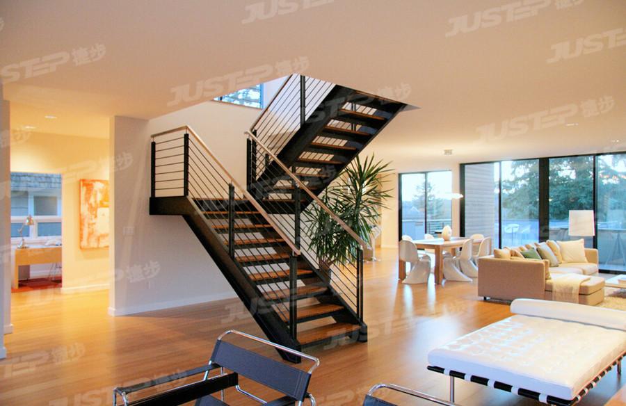 水晶楼梯 不锈钢楼梯 伸拉梯