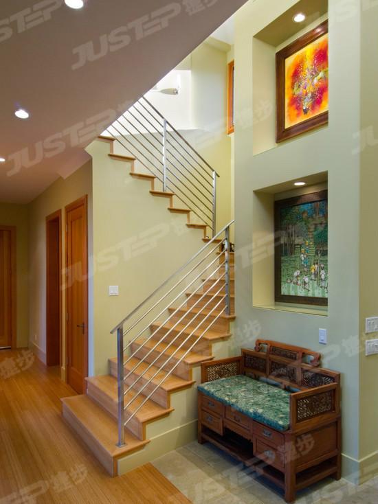 别墅中式木楼梯装修效果图大全