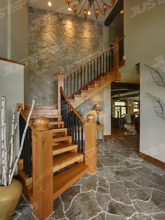 欧式水泥楼梯扶手设计