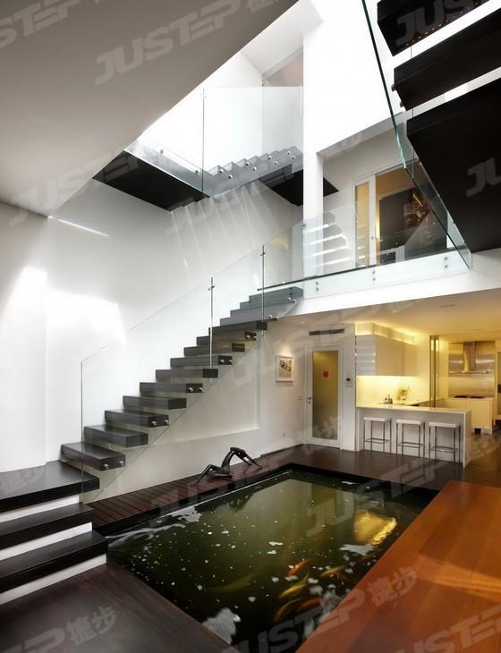 欧式楼梯橡胶木扶手图片大全