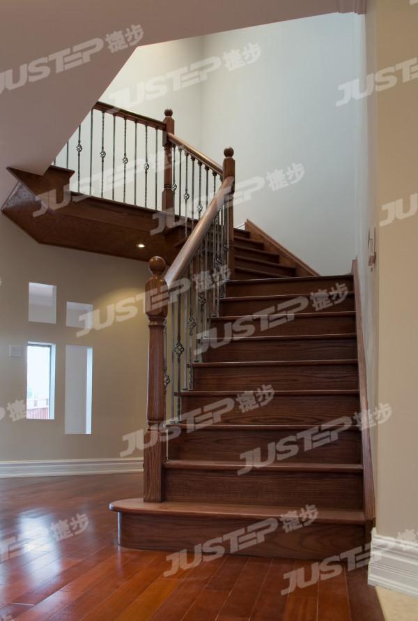欧式旋转铜楼梯